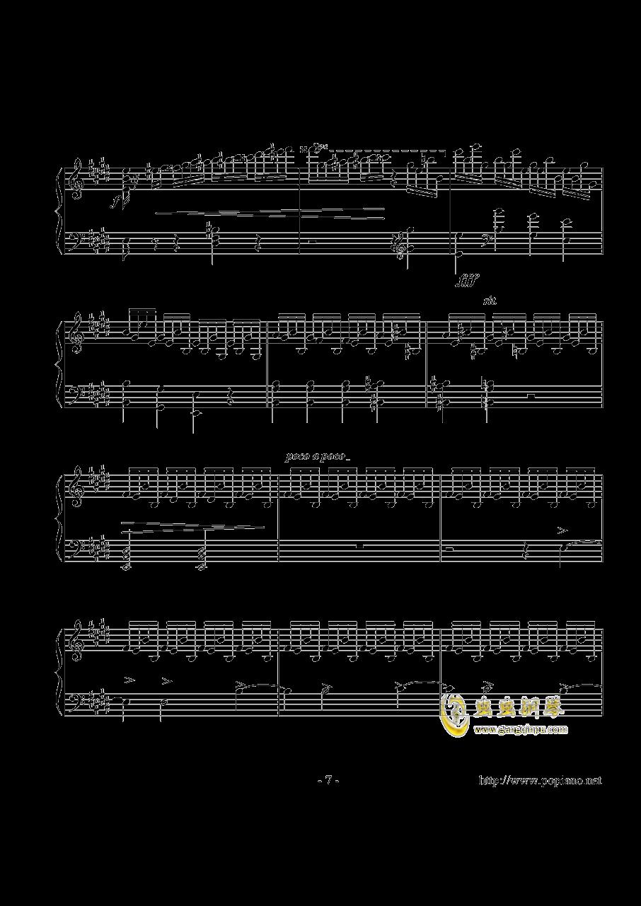 幻想即兴曲钢琴谱 第7页
