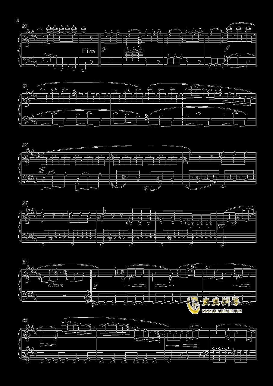 回旋曲 Op.36 No.6钢琴谱 第2页