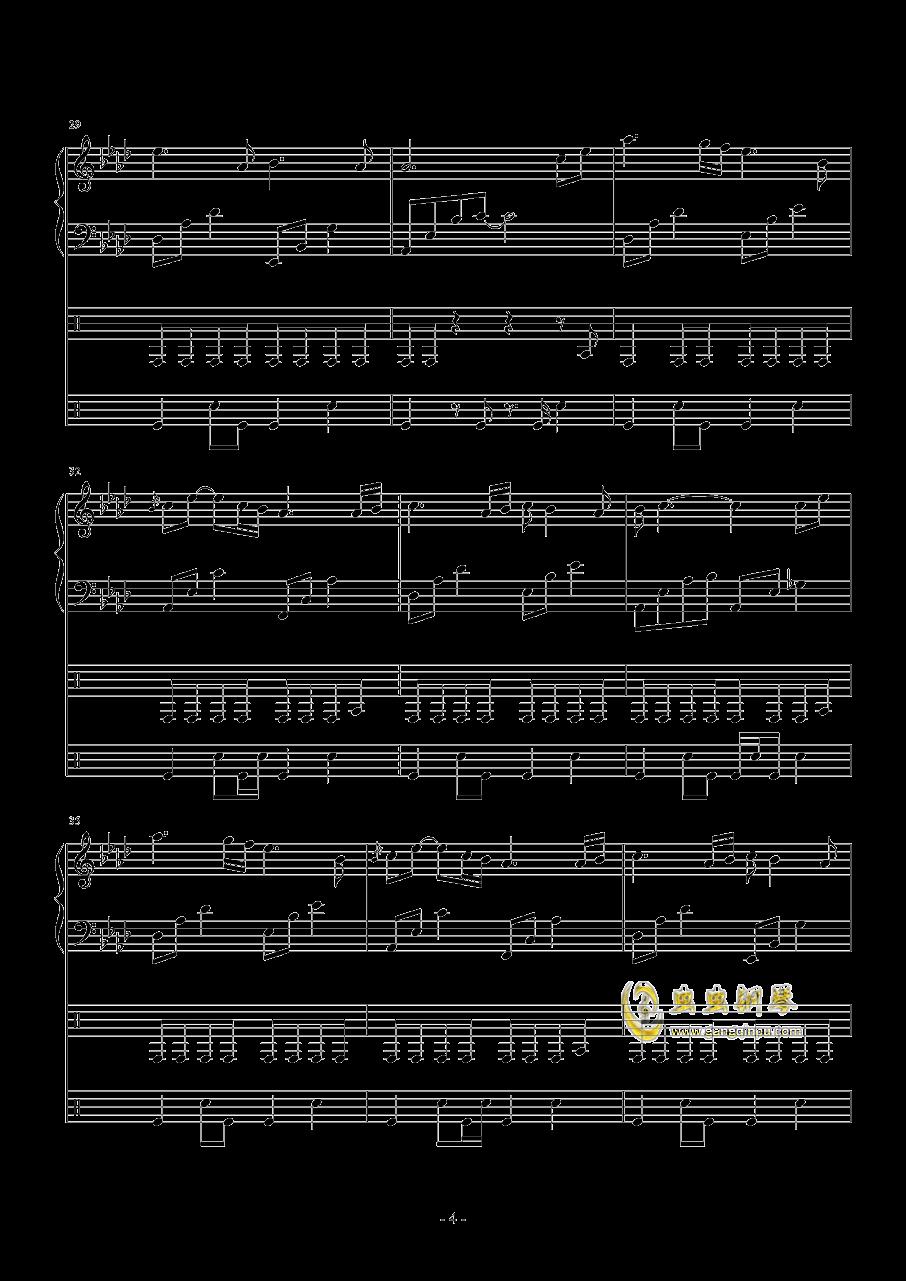 Follow the wind钢琴谱 第4页