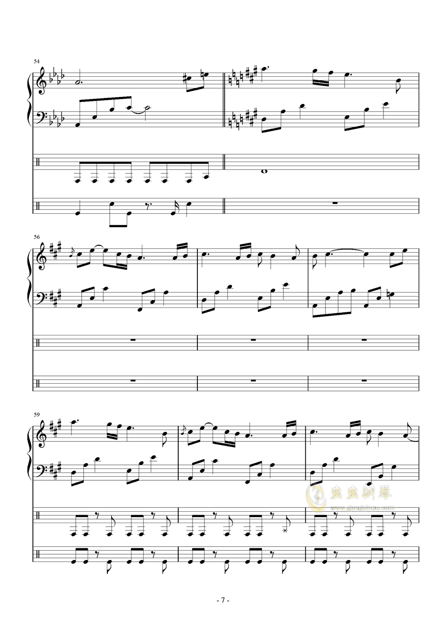 Follow the wind钢琴谱 第7页