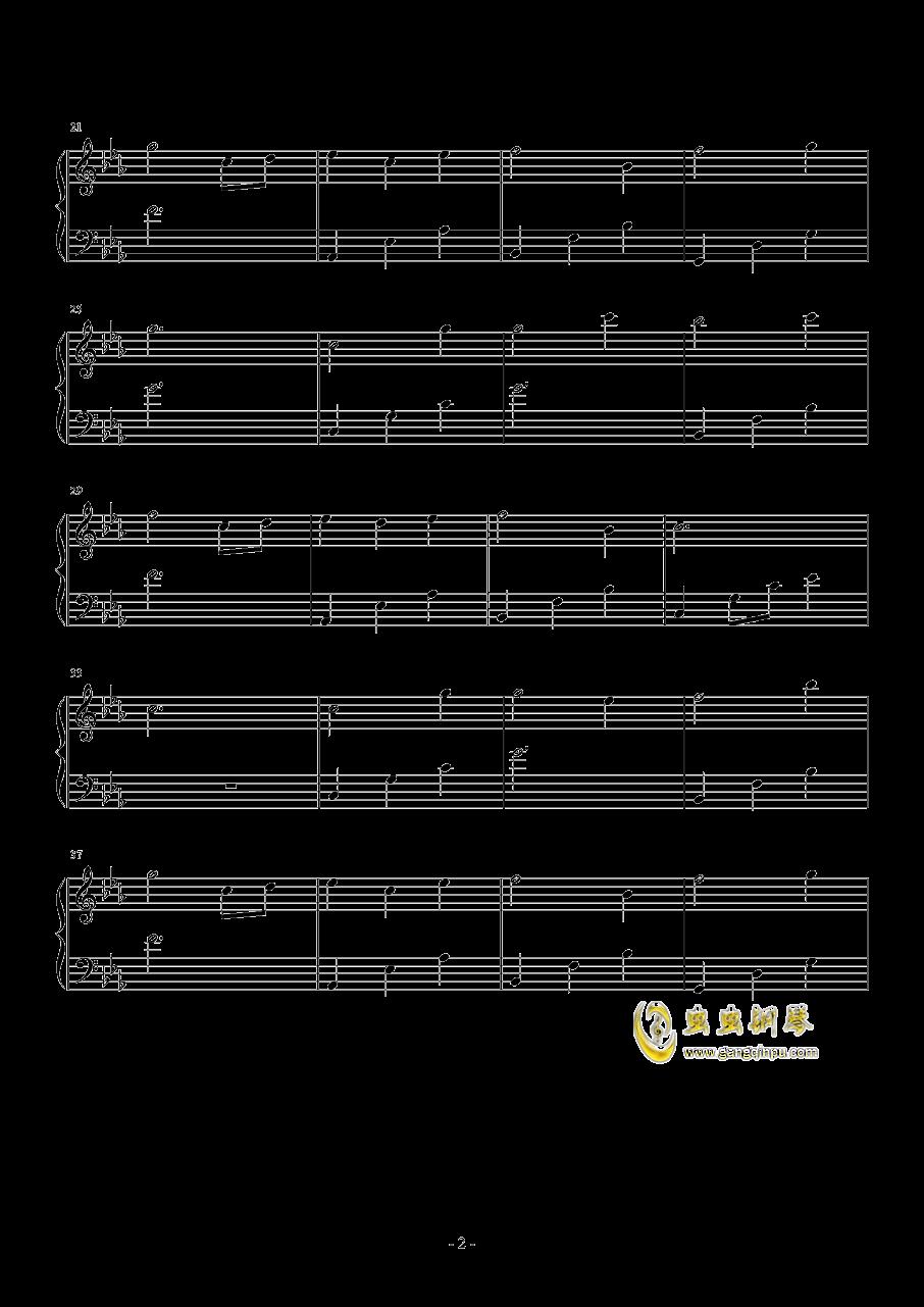 不老梦钢琴谱 第2页