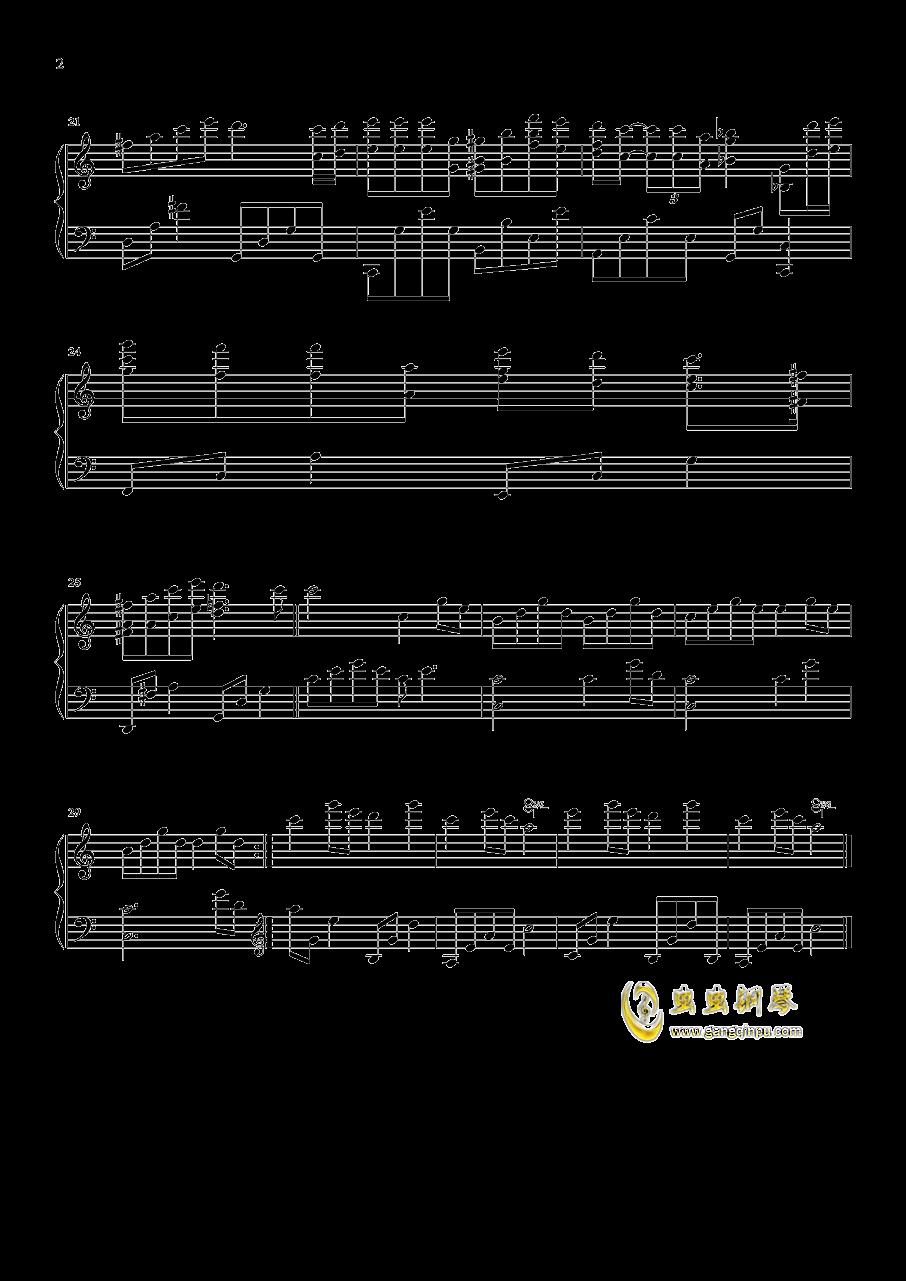 不再见钢琴谱 第2页