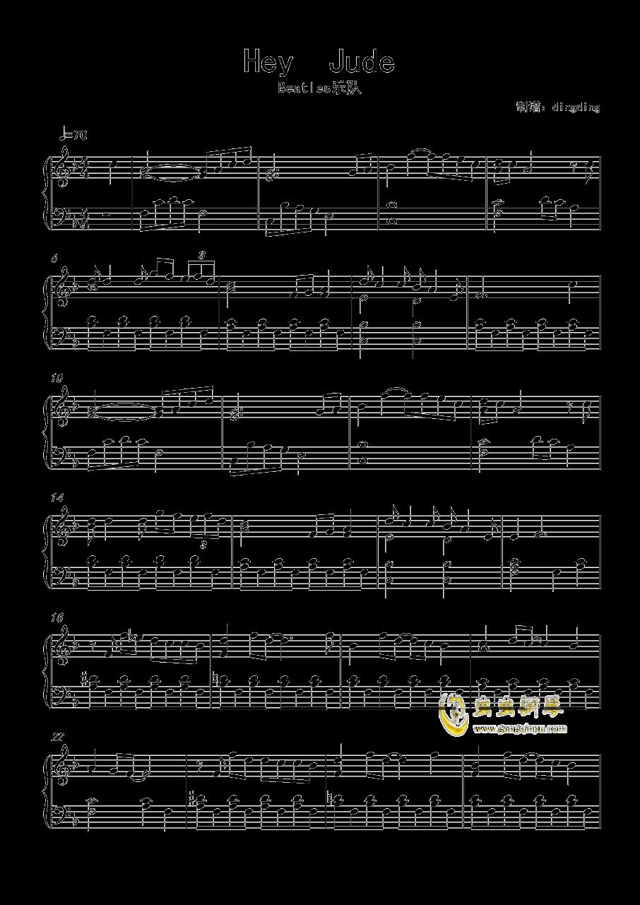 hey jude钢琴弹唱谱