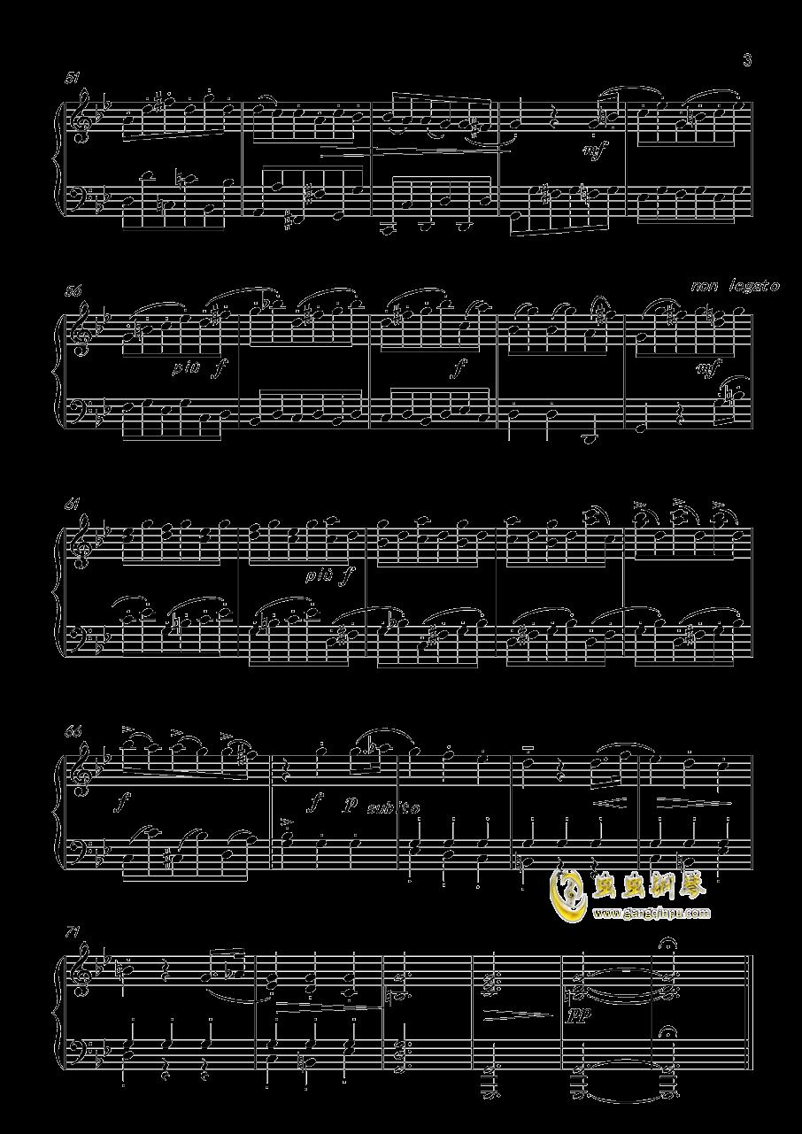 音乐小品 Op 119 No 5钢琴谱 第3页