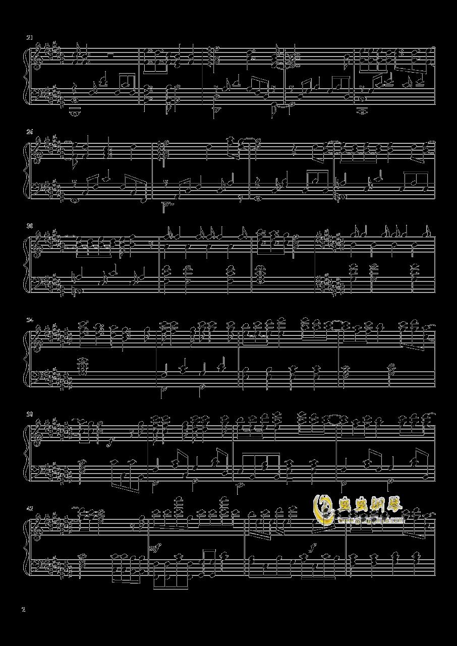 �@色ダイアリ�`钢琴谱 第2页