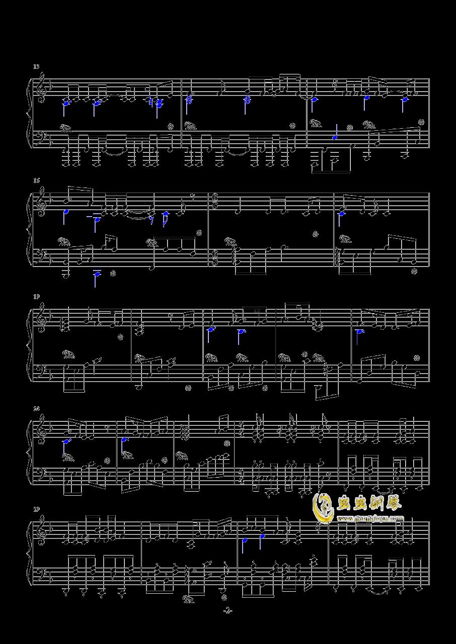 情书 love letter钢琴谱 第2页
