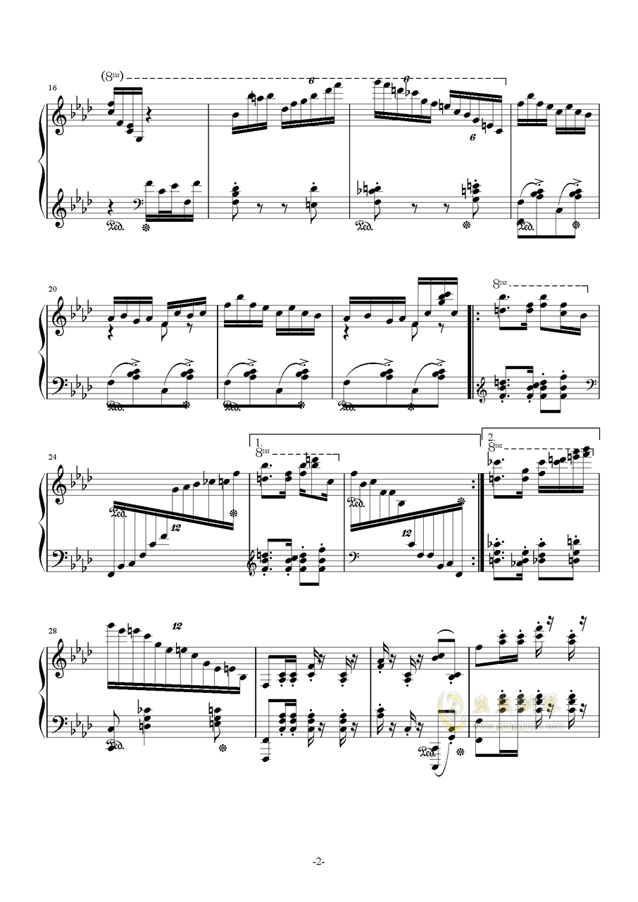 赤魂铁城钢琴谱 第2页