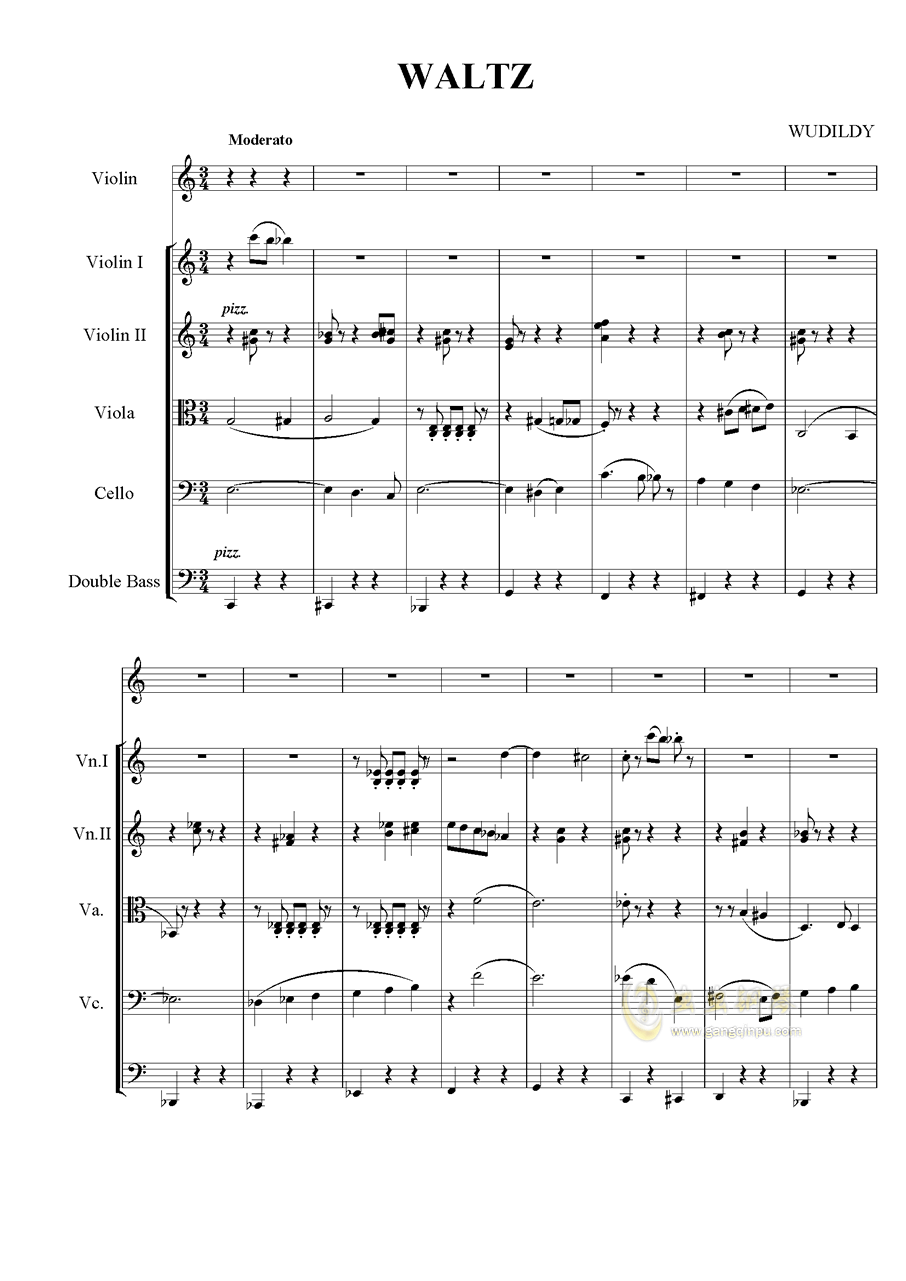 WALTZ钢琴谱 第1页
