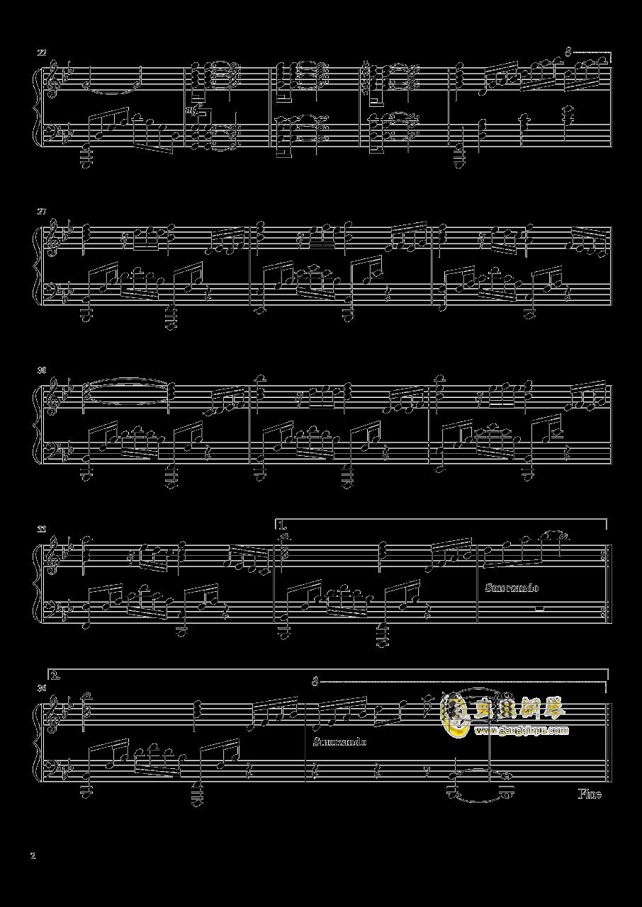 海边的夜空钢琴谱 第2页
