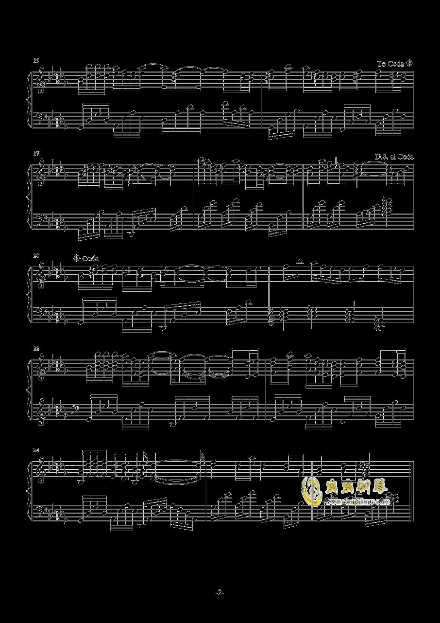 繁花钢琴谱 第2页