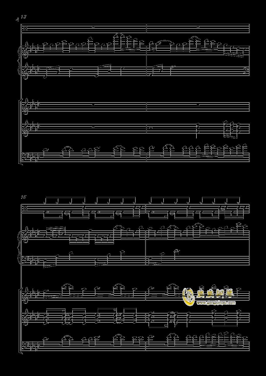 小游戏钢琴谱 第4页