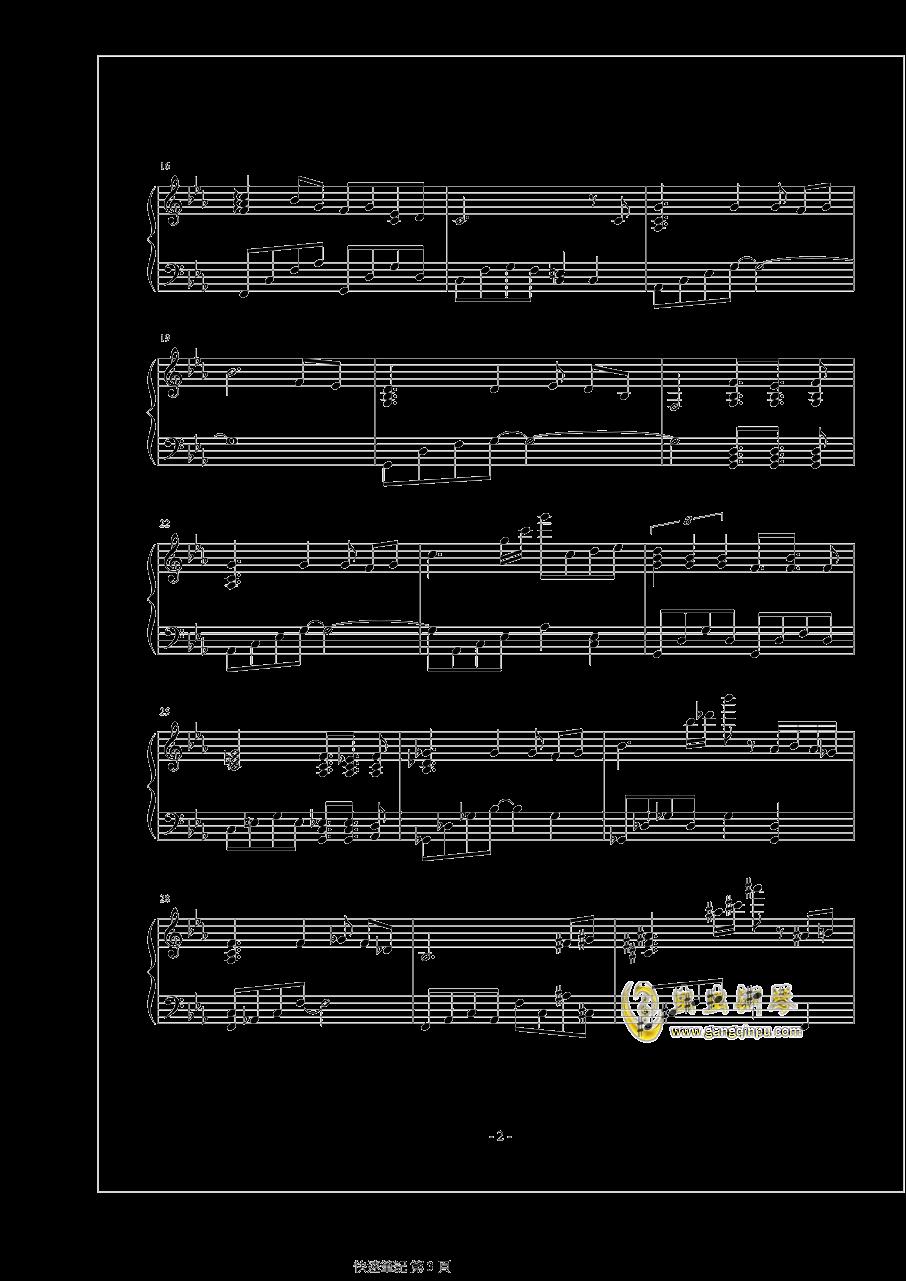 人生回���钢琴谱 第3页