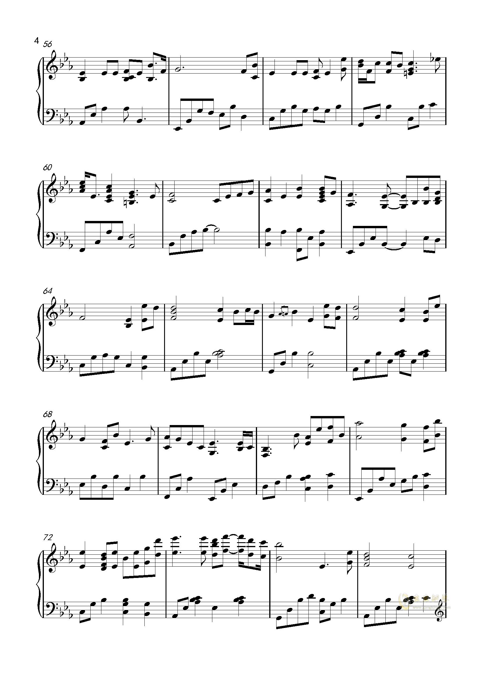 我愿意钢琴谱 第4页