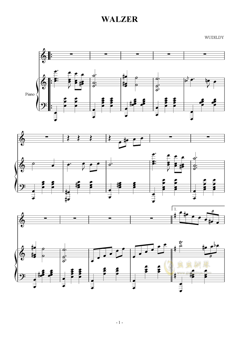 Fantasia Waltz钢琴谱 第1页