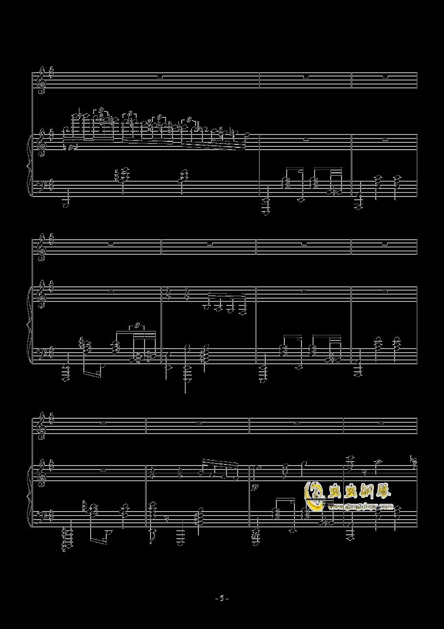Fantasia Waltz钢琴谱 第5页