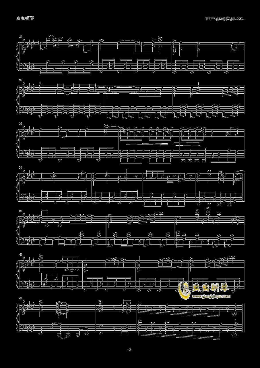 主题歌钢琴谱 第2页
