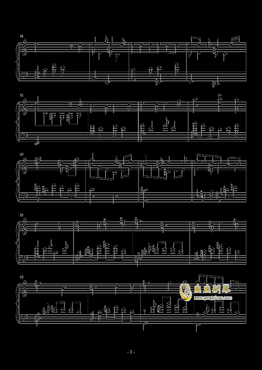 hana钢琴谱 第2页