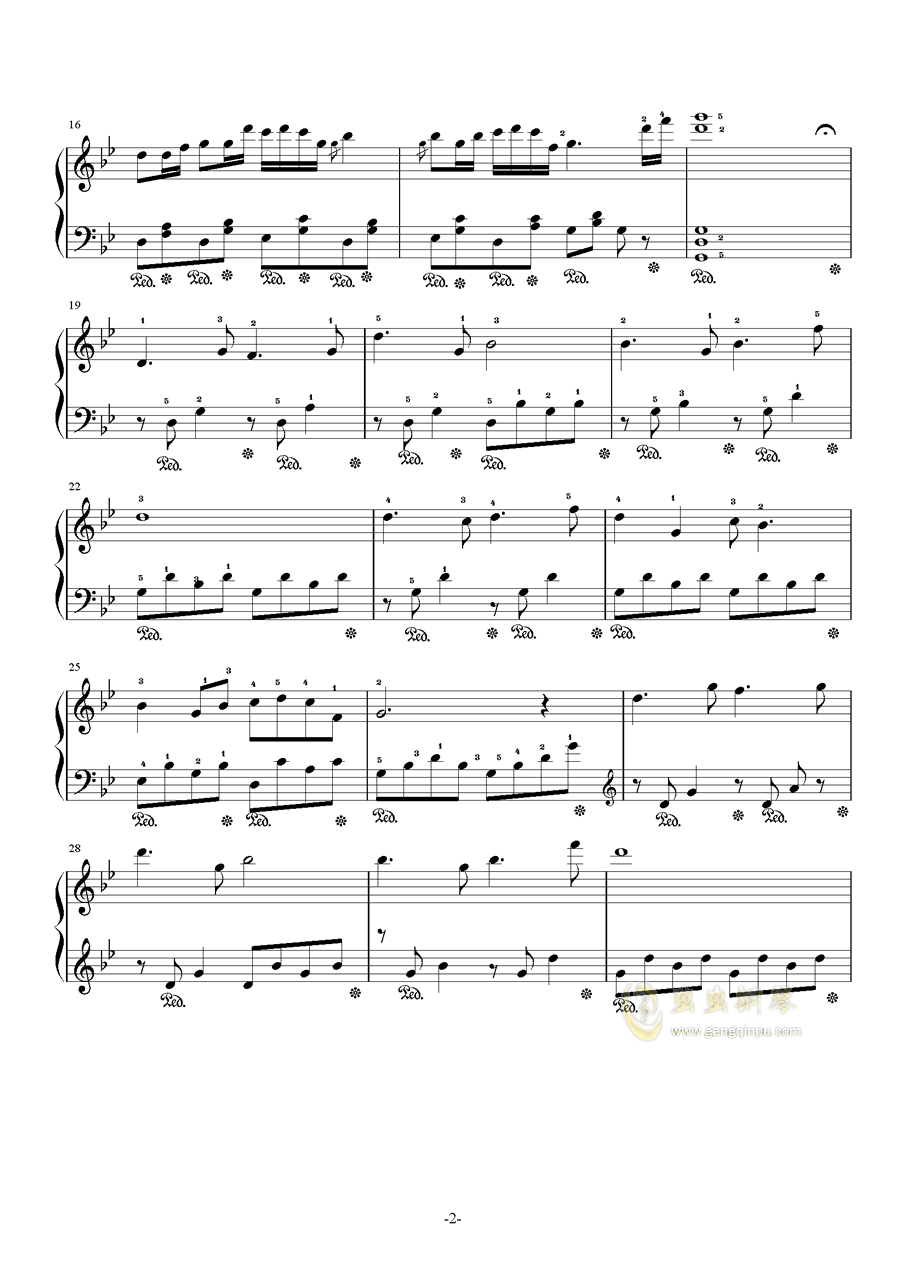 侗族多耶舞-最终修改版钢琴谱 第2页