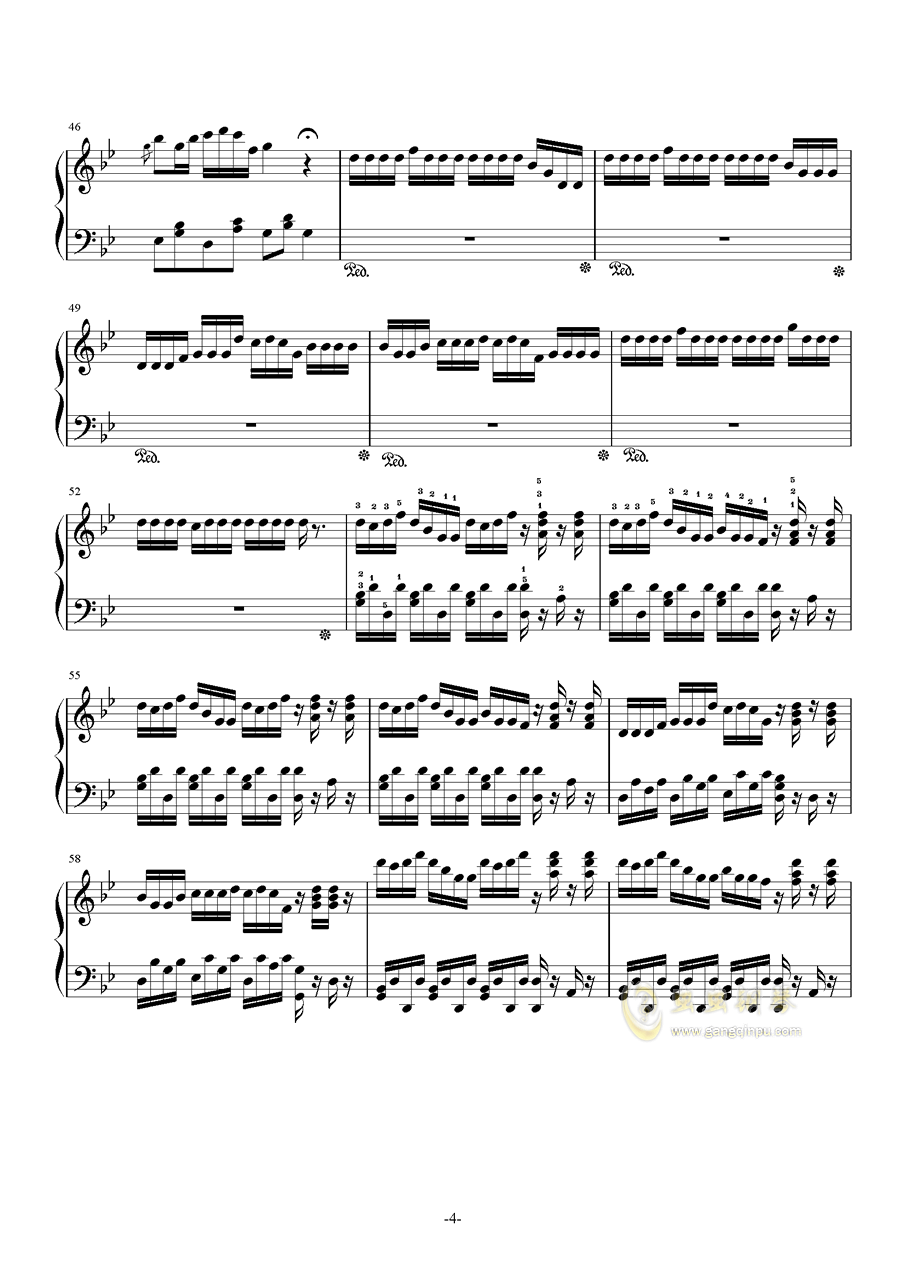 侗族多耶舞-最终修改版钢琴谱 第4页