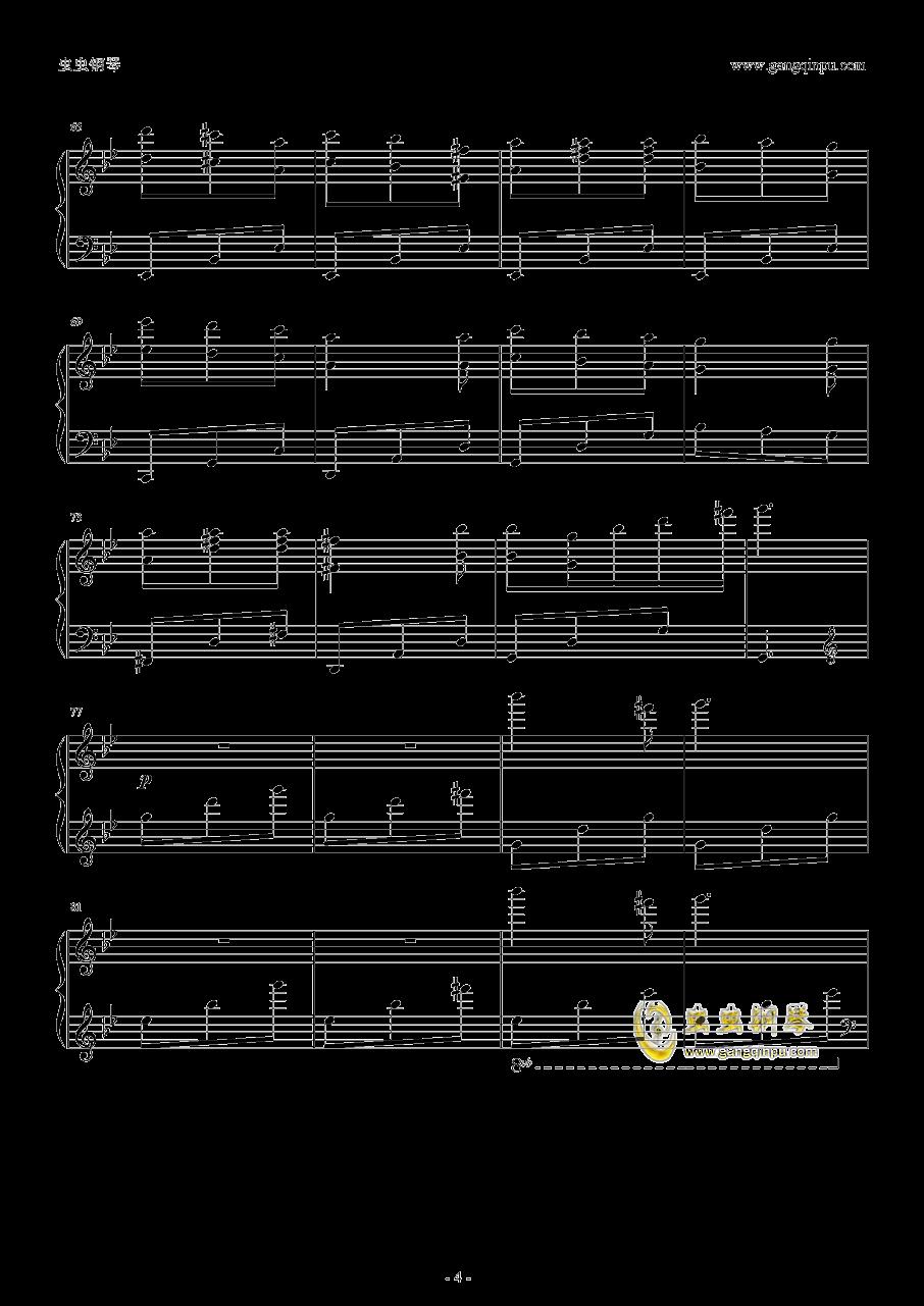 本恶钢琴谱 第4页