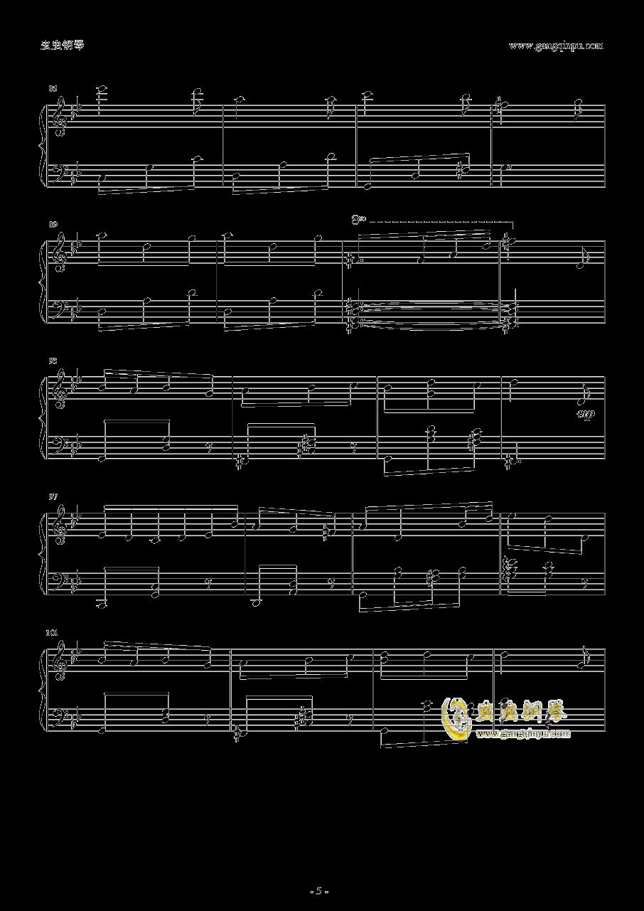 本恶钢琴谱 第5页