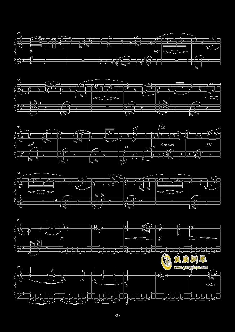 致爱丽丝钢琴曲钢琴谱 第2页