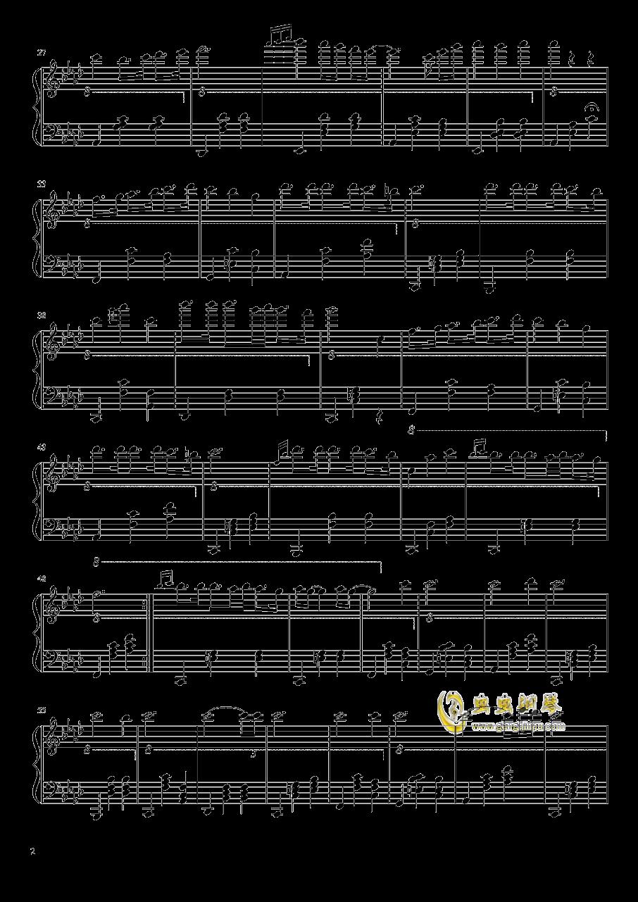黑白钢琴谱 第2页