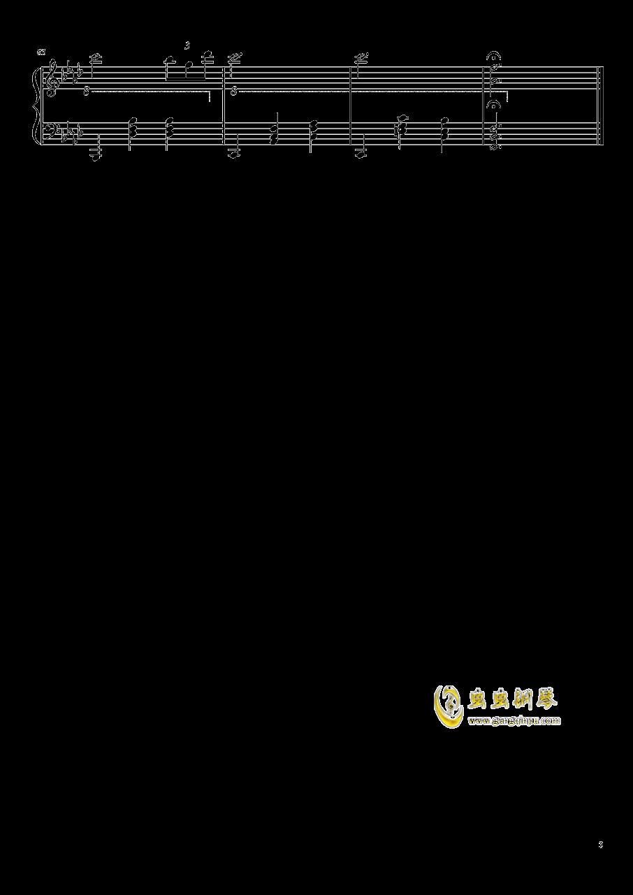 黑白钢琴谱 第3页