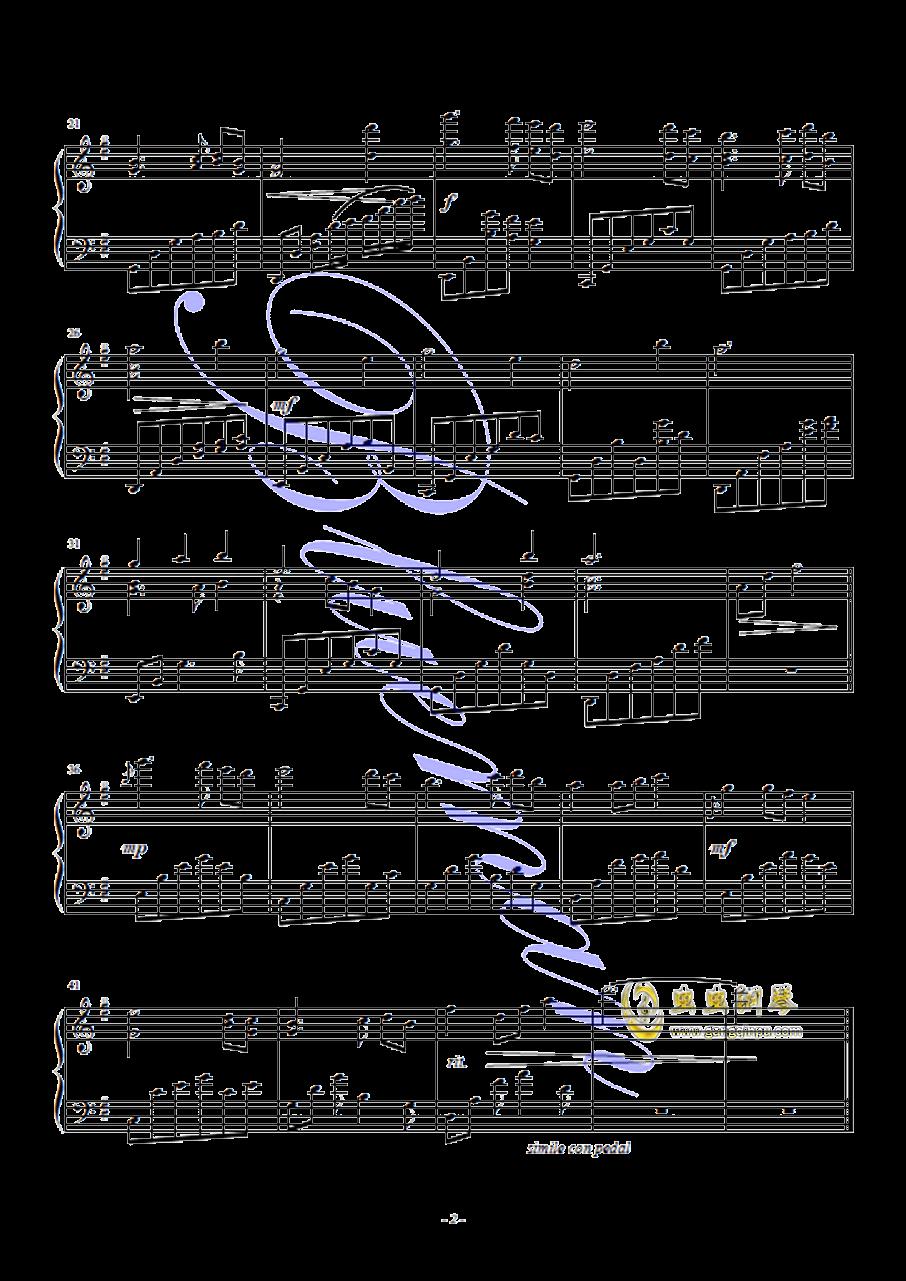 再见,警察钢琴谱 第2页
