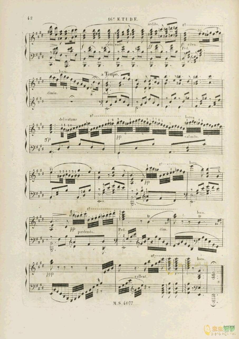 E大调浪漫曲钢琴谱 第2页