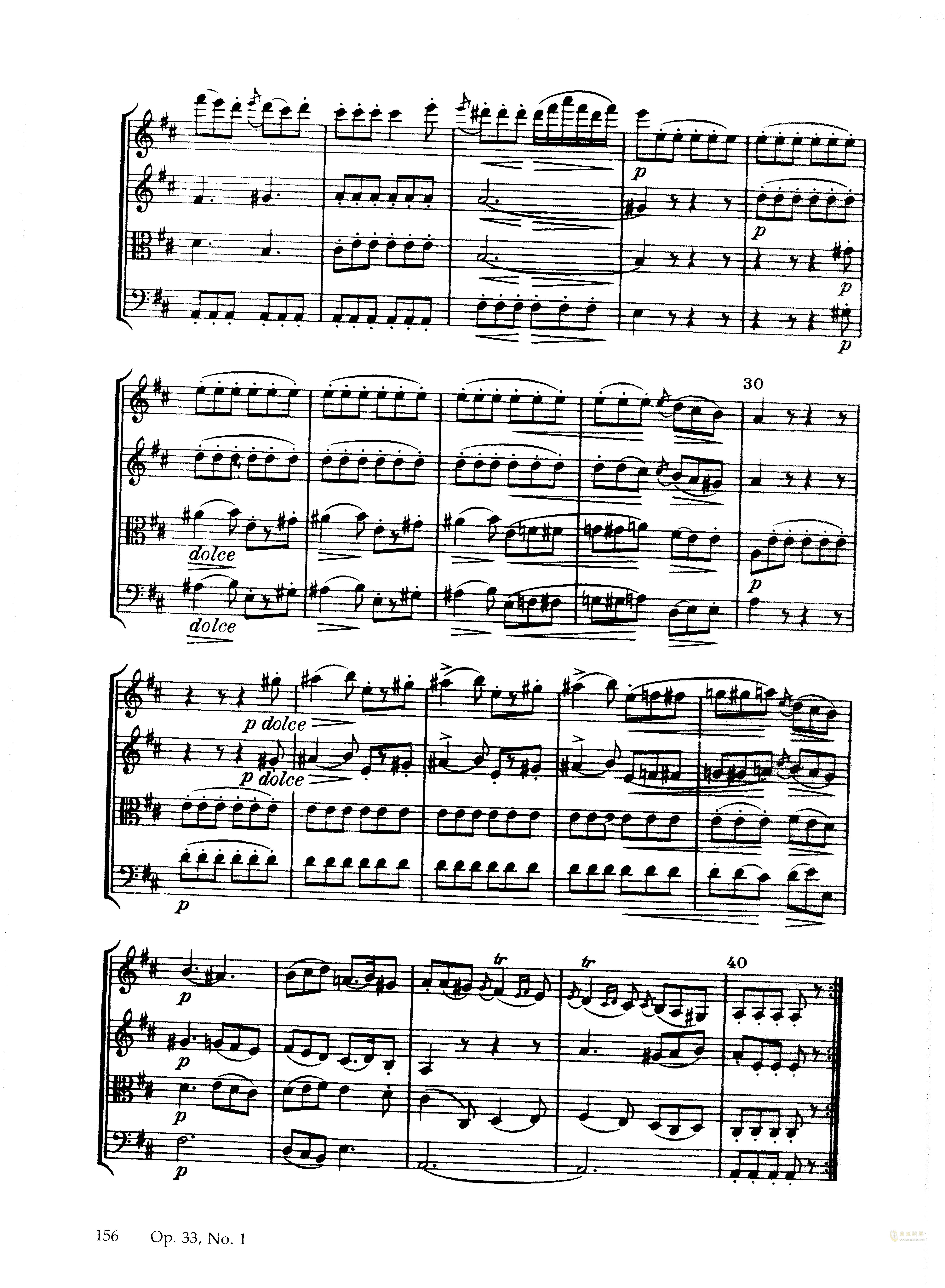 b小调弦乐四重奏钢琴谱 第10页