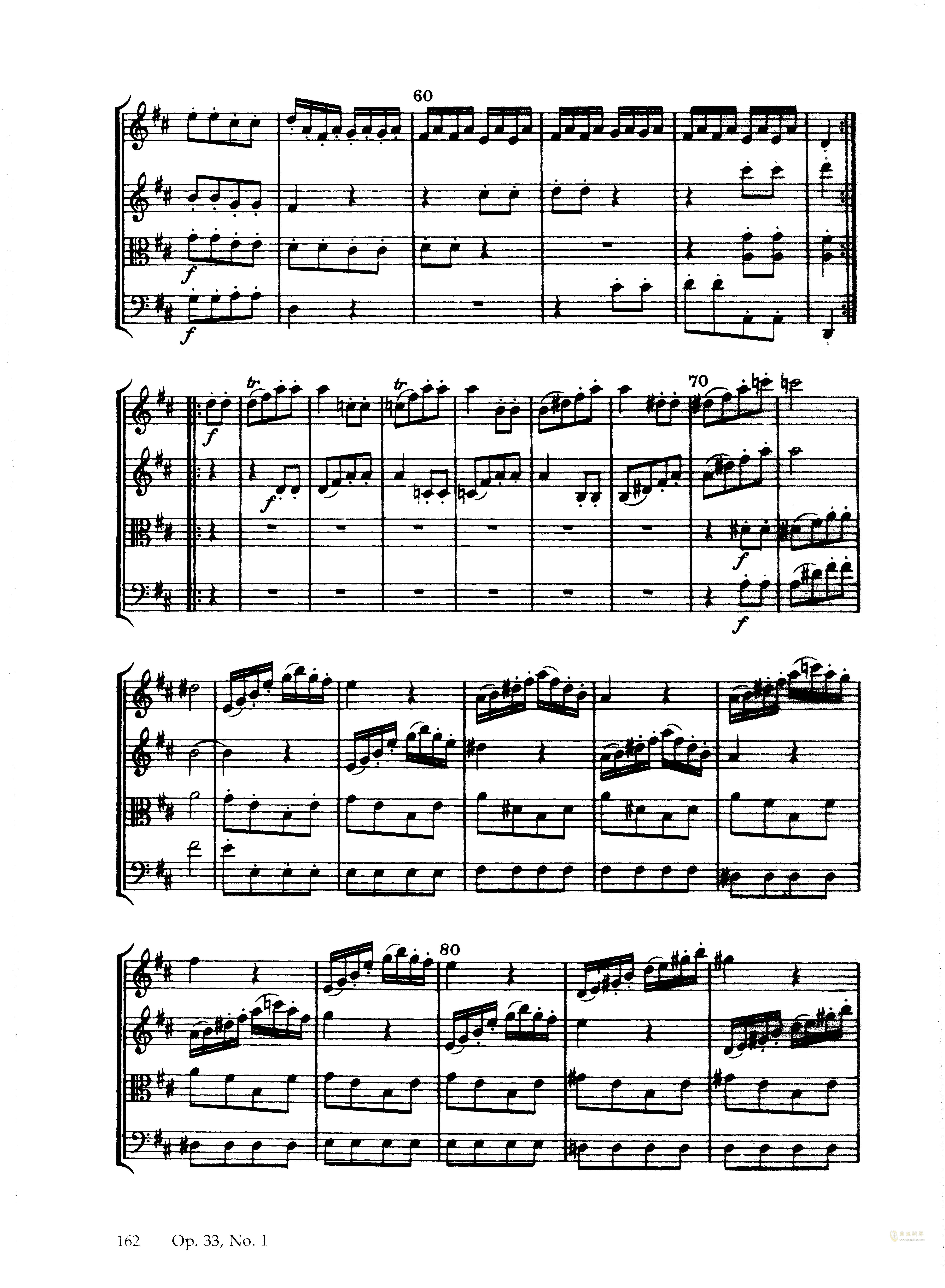 b小调弦乐四重奏钢琴谱 第16页