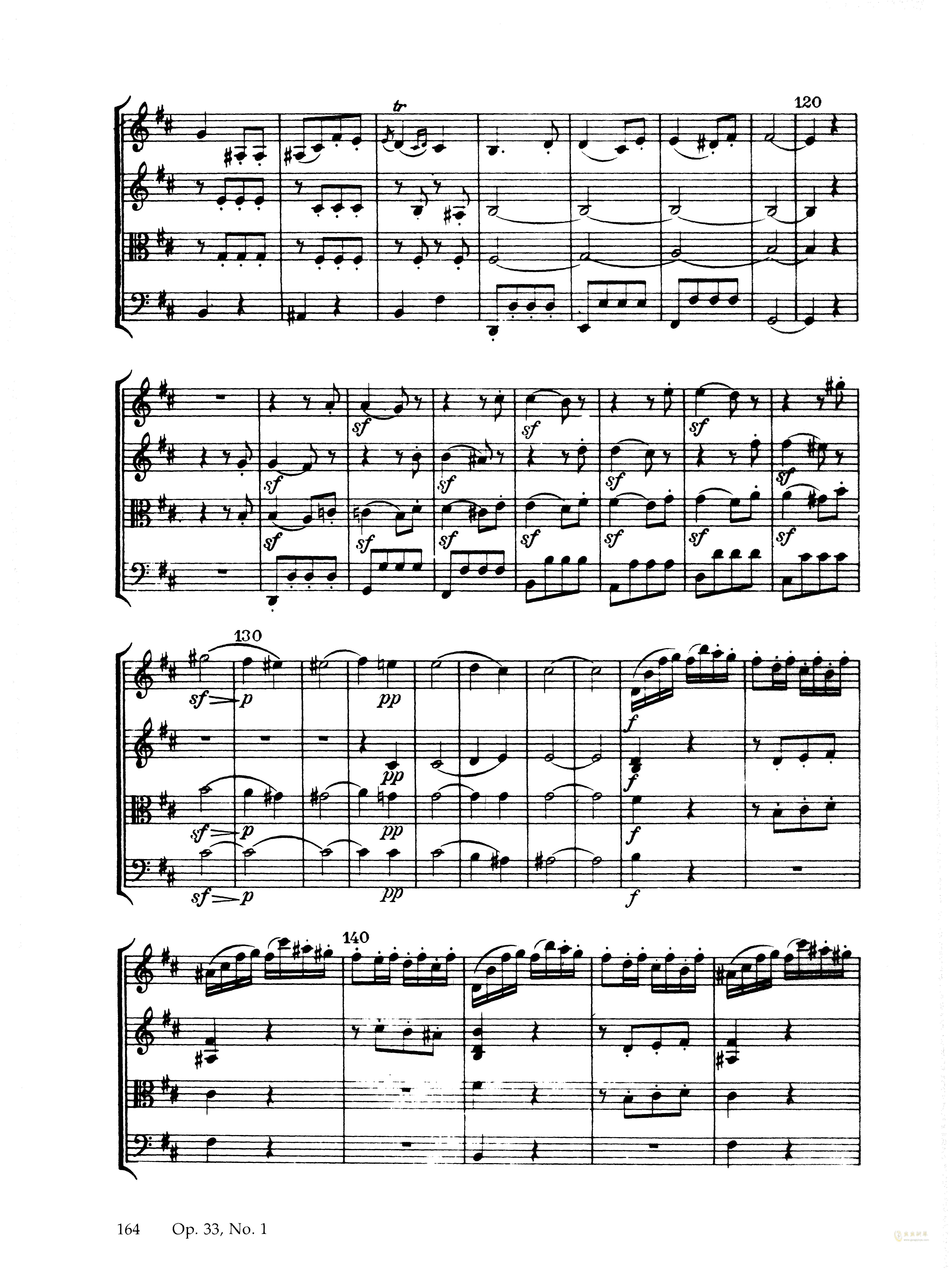 海顿 b小调弦乐四重奏 Op.33 No.1,海顿 b小调弦乐四重奏 Op.33 No