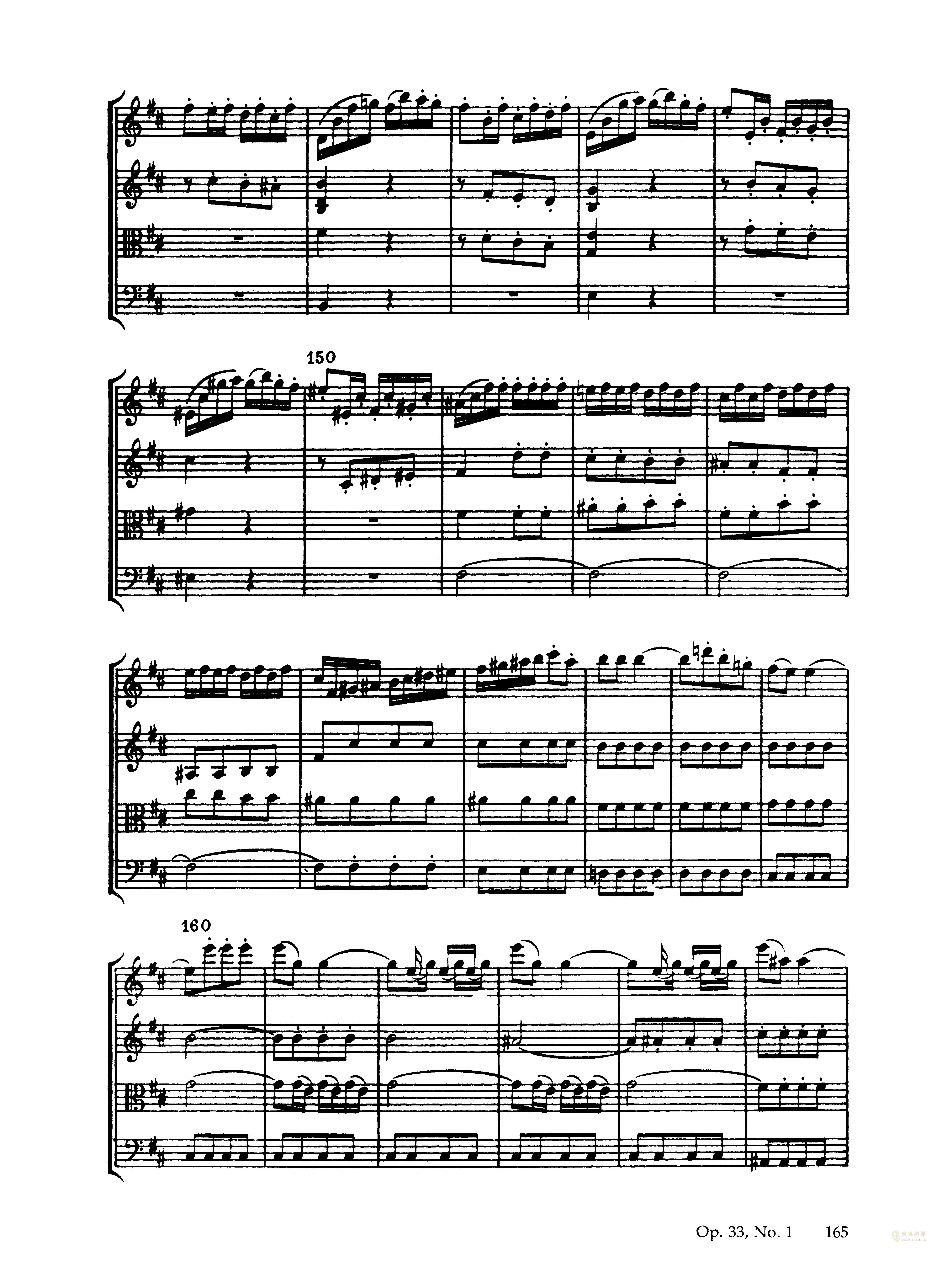 b小调弦乐四重奏钢琴谱 第19页