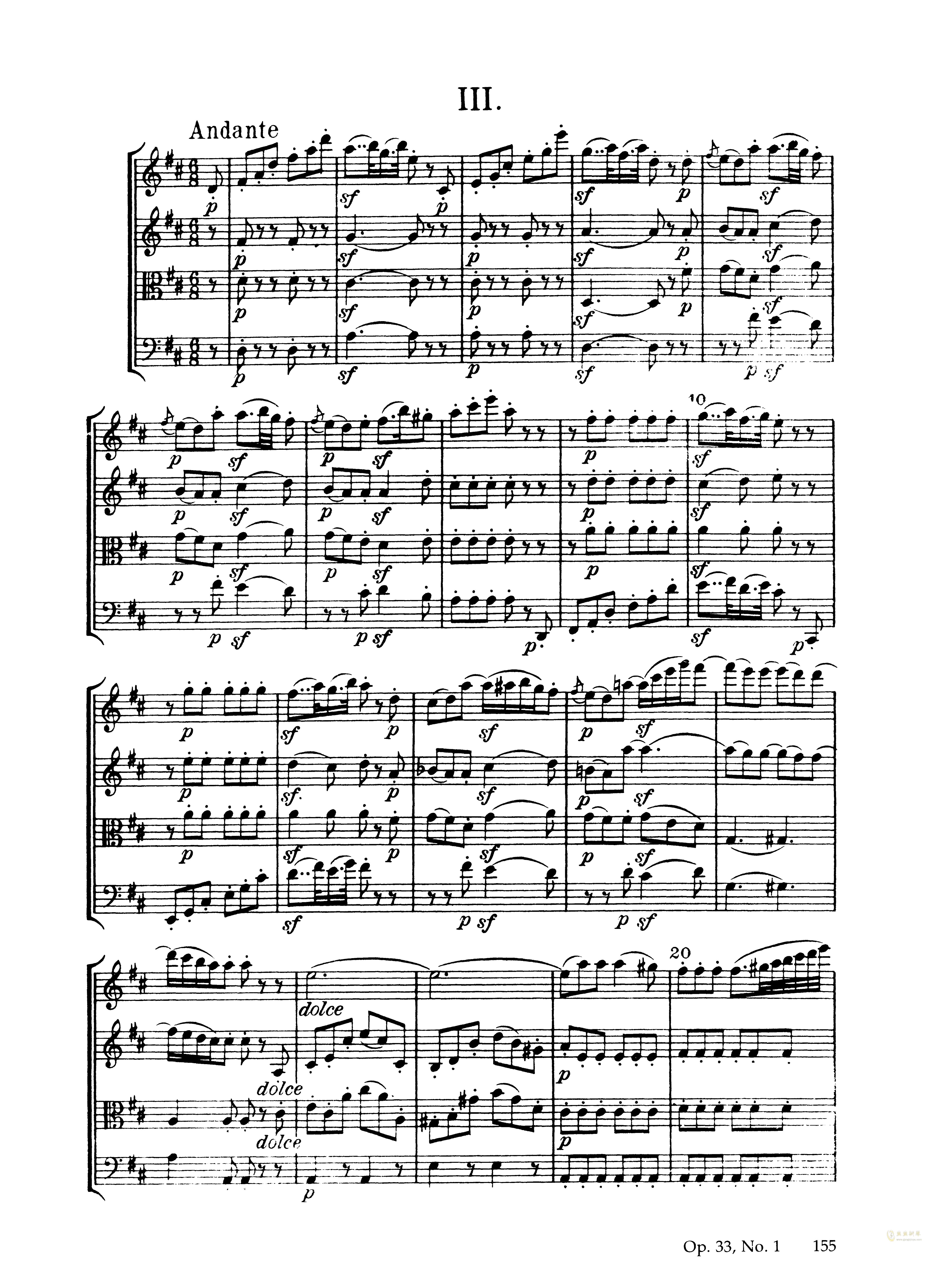 b小调弦乐四重奏钢琴谱 第9页
