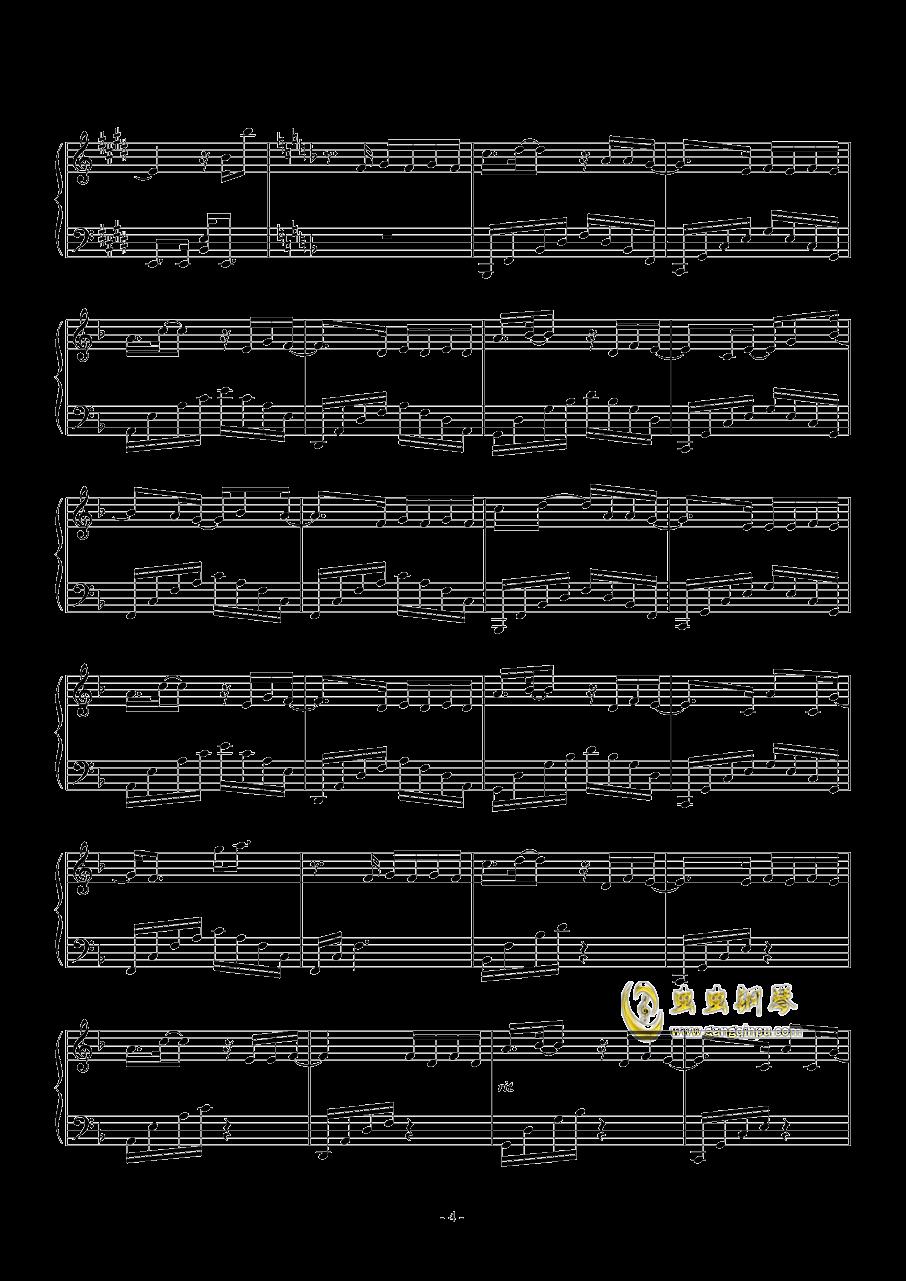 暧昧钢琴谱 第4页