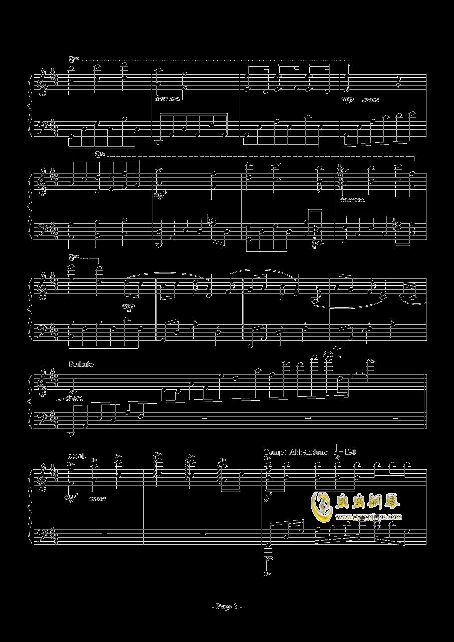 思绪之舞钢琴谱 第3页