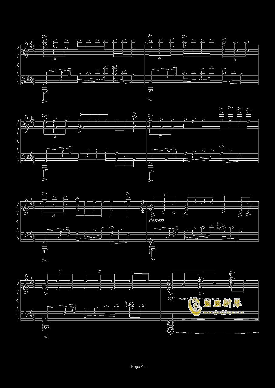 思绪之舞钢琴谱 第4页