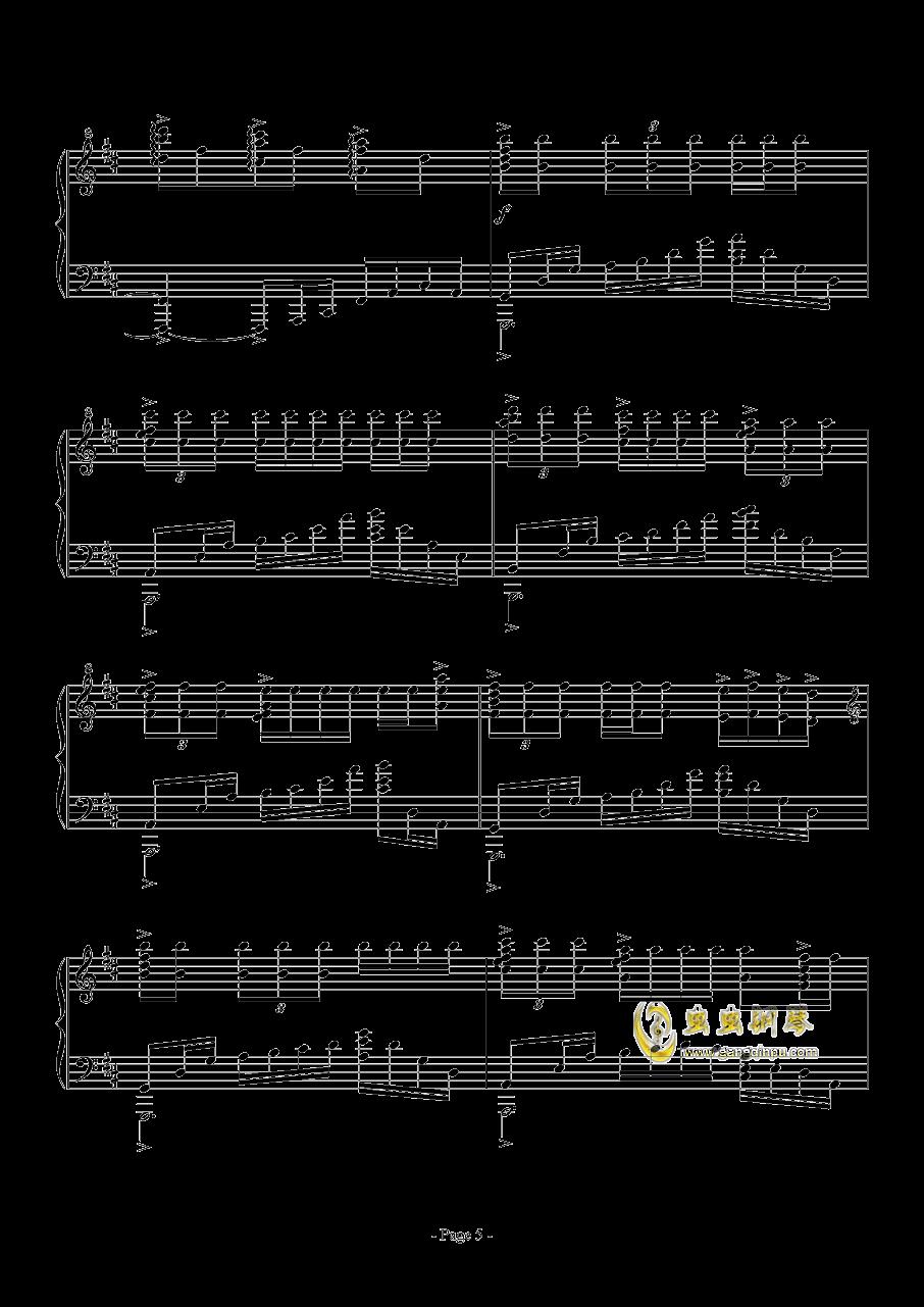 思绪之舞钢琴谱 第5页