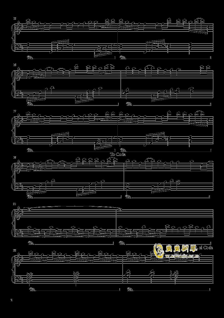 失忆的金鱼钢琴谱 第2页