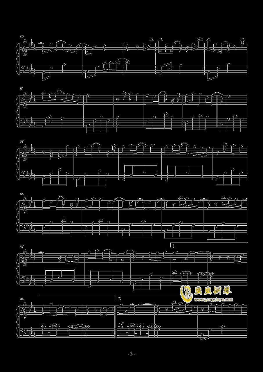 幸福的终点钢琴谱 第2页