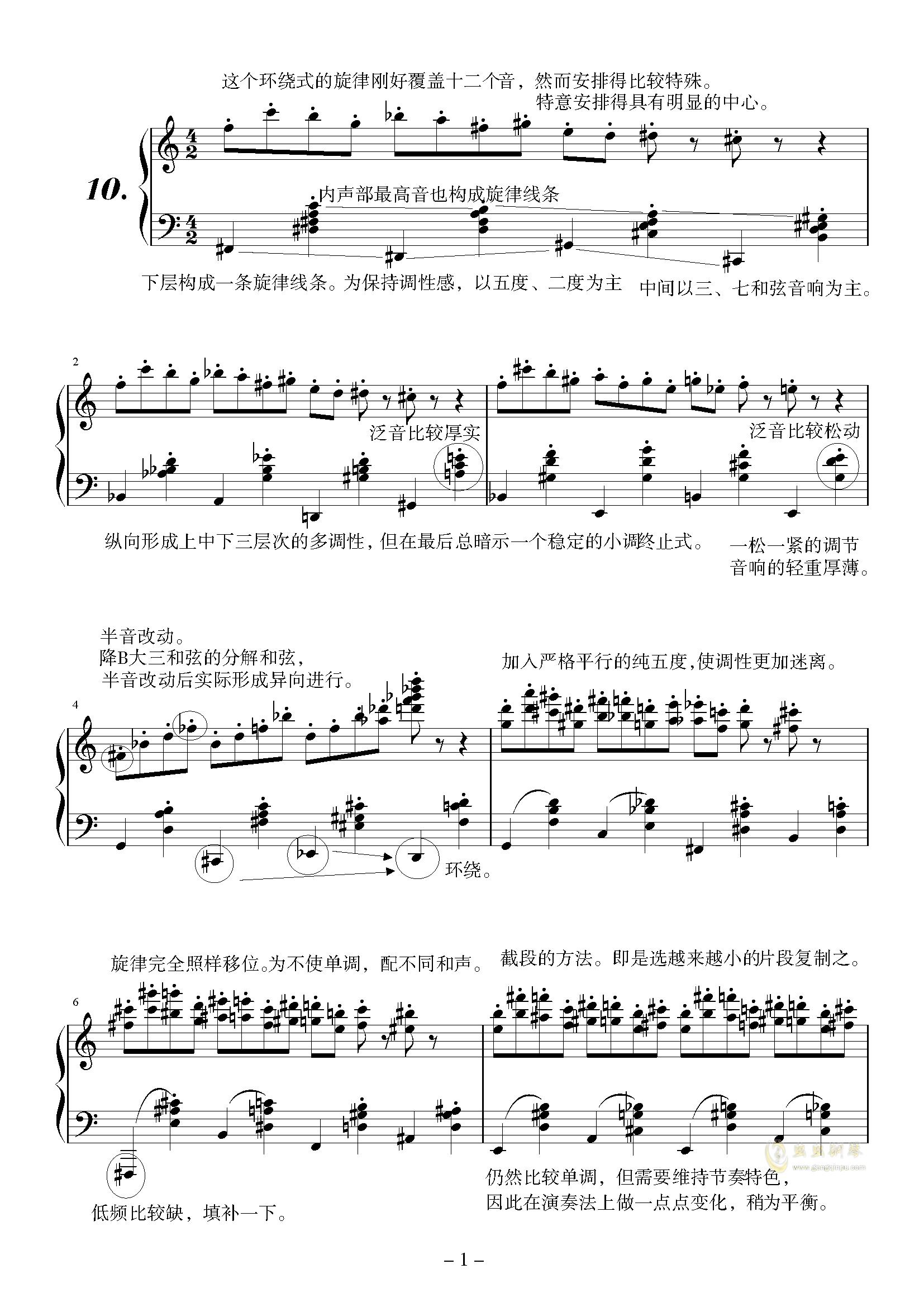 阐释集 (10) - 小谐谑曲钢琴谱 第1页