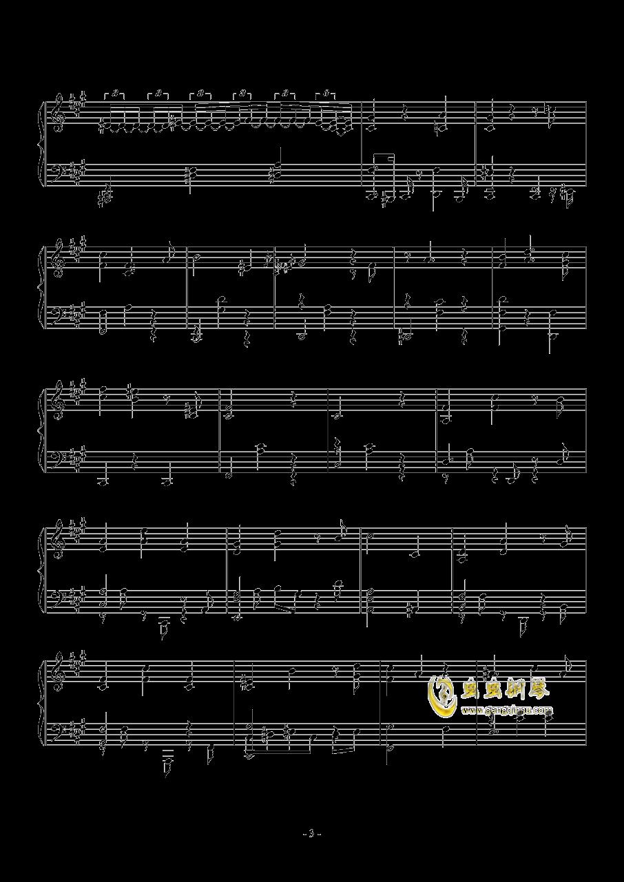 幻想的双人舞钢琴谱 第3页
