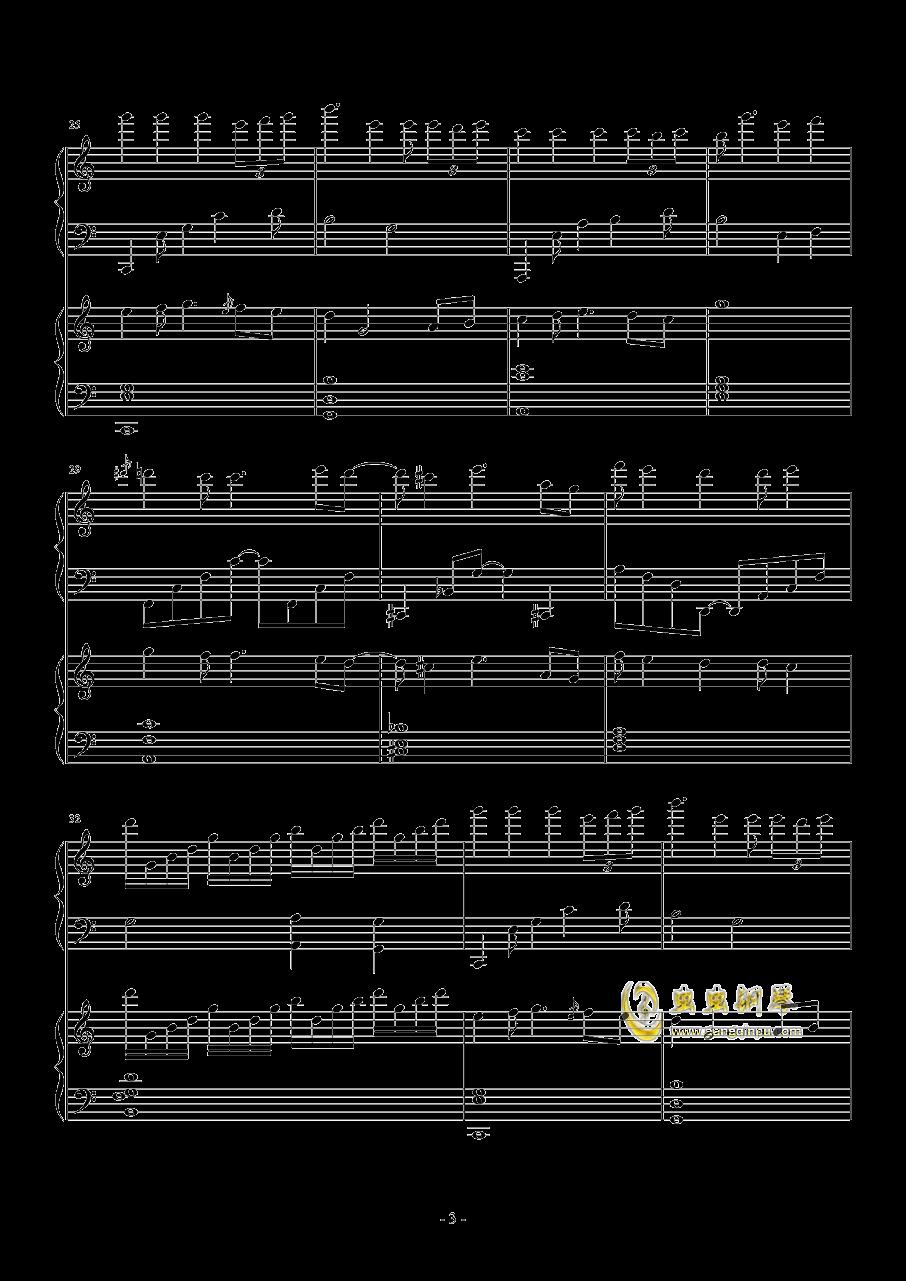 TUESDAY钢琴谱 第3页