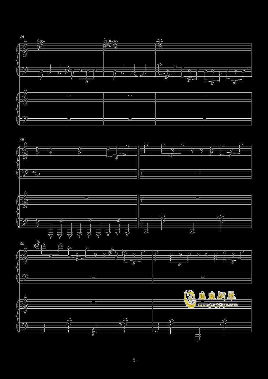 TUESDAY钢琴谱 第5页
