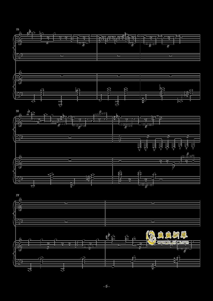 TUESDAY钢琴谱 第6页
