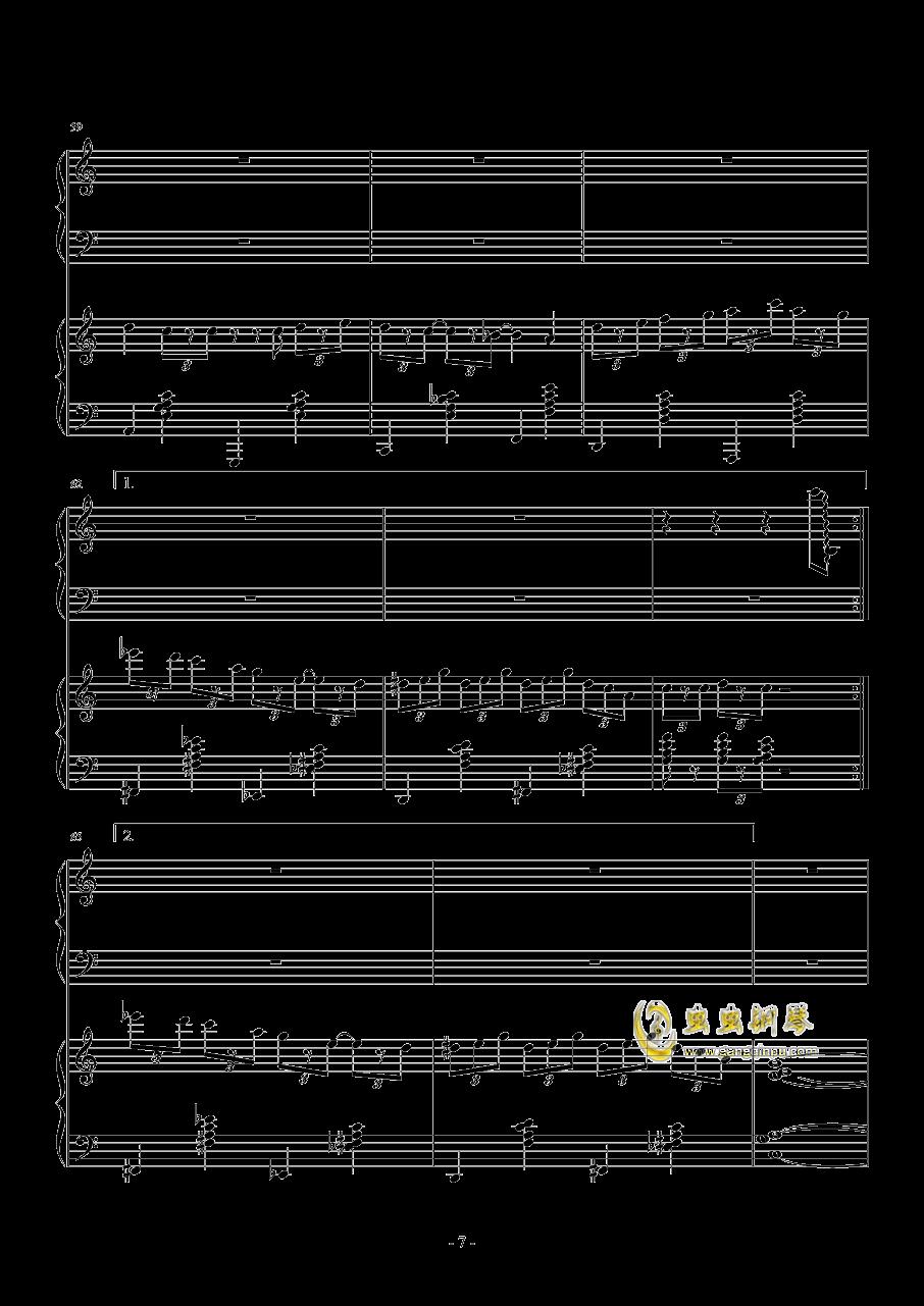 TUESDAY钢琴谱 第7页