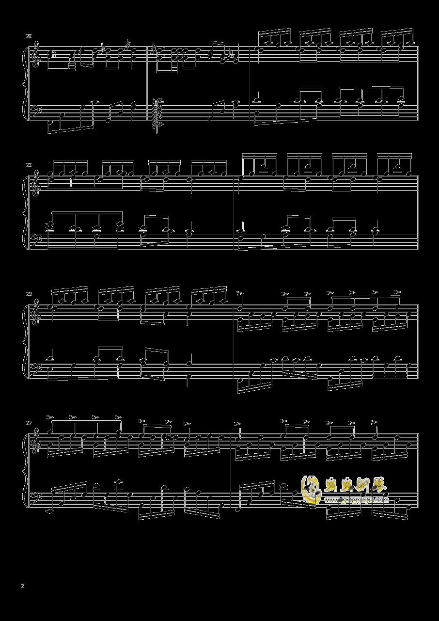 蝉钢琴谱 第2页