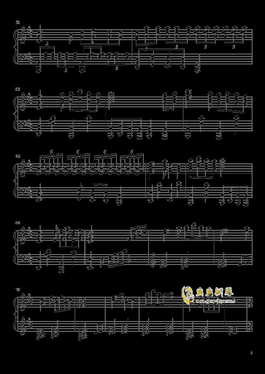 渔舟唱晚钢琴谱 第5页
