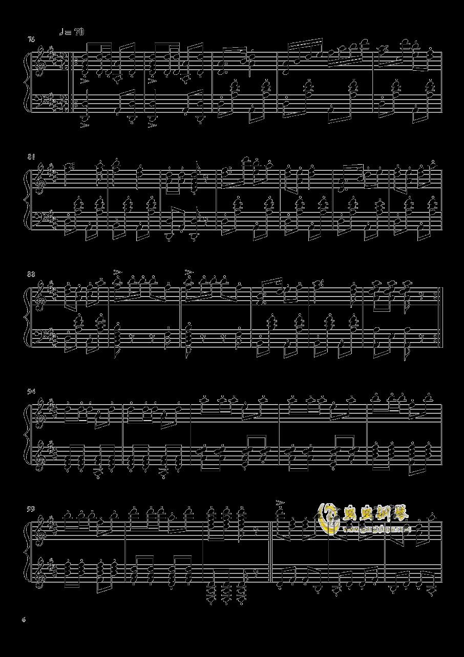 渔舟唱晚钢琴谱 第6页
